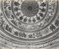 The interior dome of the Swami Narayan temple [Junagadh]
